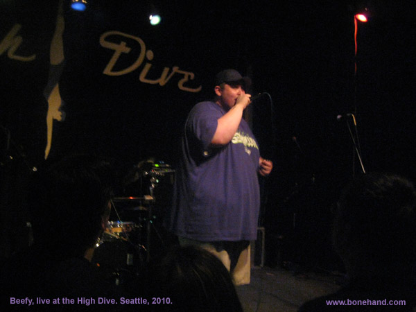 Beefy, live at the High Dive. Seattle, 2010.